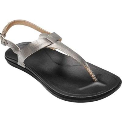 オルカイ サンダル シューズ レディース Ekekeu Thong Sandal (Women's) Silver/Black Leather