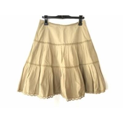 ドレステリア DRESSTERIOR スカート サイズ38 M レディース ベージュ レース【還元祭対象】【中古】