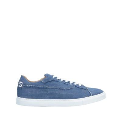 CESARE PACIOTTI 4US スニーカー&テニスシューズ(ローカット) ブルー 36 革 / 紡績繊維 スニーカー&テニスシューズ(ローカ