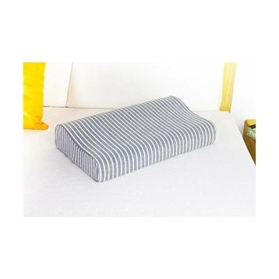 Acksonse 低反発枕 快眠枕 まくら高反発 ストレートネック 枕 肩こり 首こり ピローケース 枕カバー付き 形状記