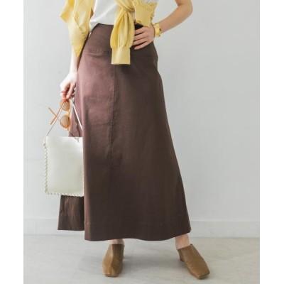 【アーバンリサーチ】 綿麻チノAラインスカート レディース DBROWN 36 URBAN RESEARCH