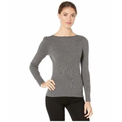 ラルフローレン ニット&セーター アウター レディース Puff-Sleeve Boat Neck Sweater Lexington Grey Heather