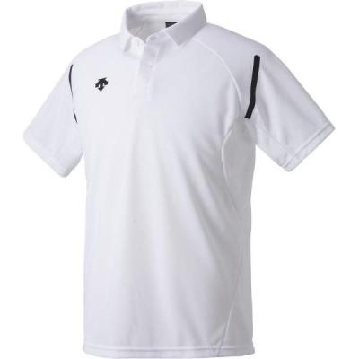 ポロシャツ メンズ Tシャツ メンズ 半袖 メンズ ポロシャツ ホワイト  (DES)(QCB02)