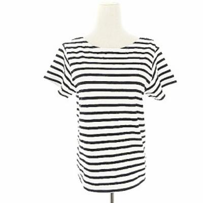 【中古】アングリッド UNGRID Tシャツ カットソー 半袖 ボーダー F 白 ホワイト /AAM4 レディース