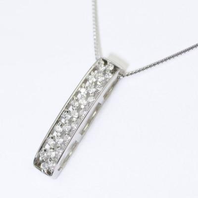 PT ダイヤモンド ネックレス ストレート プラチナ