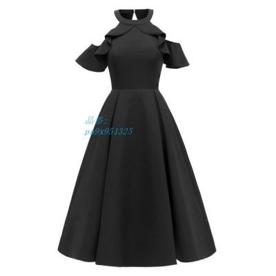 ドレス ワンピース 結婚式 服 20代 チュール レース ひざ丈 大きいサイズ ドレス 30代 刺繍 体型カバー パーティー 40代