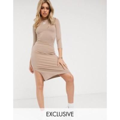 プーマ レディース ワンピース トップス Puma Classics long sleeve dress in tan exclusive to asos Chanterelle