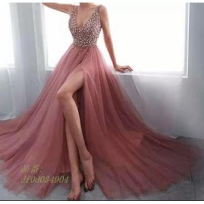 ロングドレス レディース パーティードレス 結婚式 ドレス ウェディングドレス フォーマル ドレス 演奏会 二次会ドレス お呼ばれ ピアノ
