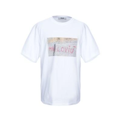 エムエスジーエム MSGM T シャツ ホワイト S コットン 100% T シャツ