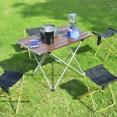 アウトドア 木目調 テーブル キャンプ テーブル 木目 折りたたみ コンパクト 組立簡単 軽量 軽い スマート おしゃれ ソロキャンプ BBQ バ