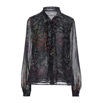 CO シャツ ブラック L シルク 100% シャツ