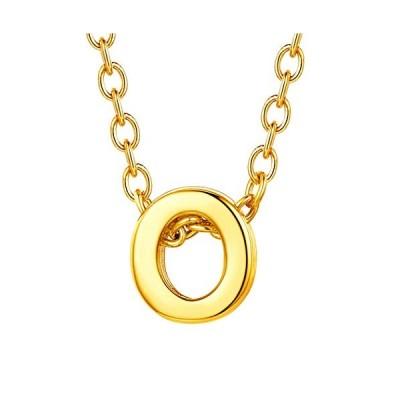 Suplight イニシャル O ネックレス レディース 人気 ゴールド k18金 アルファベット シンプル アクセサリー  O
