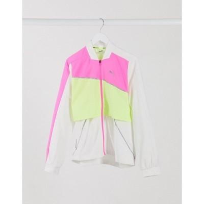プーマ レディース ジャケット&ブルゾン アウター Puma Running ultra jacket in white White