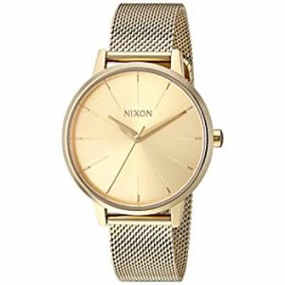 Nixon Women's Kensington Milanese Japanese-Quartz Watch with Stainless-Steel Strap, Gold, 16 (Model: A1229502)