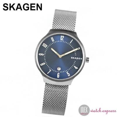 SKAGEN スカーゲン 時計 グレーネン クオーツ SKW6517 メンズ ネイビー ガンメタ 腕時計 シンプル