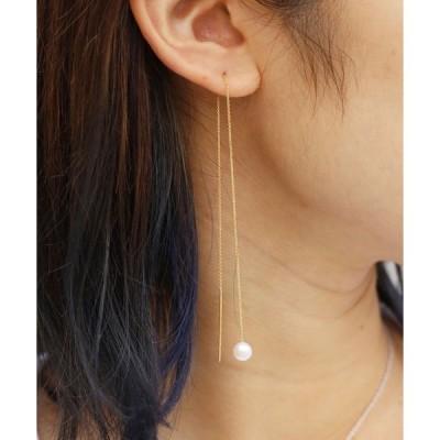 ピアス CHARLOTTE LEBECK/シャーロットレベック Pearl Threader Earrings イアリング ピアス