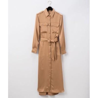 GRACE CONTINENTAL/グレースコンチネンタル ロングシャツドレス ベージュ 36