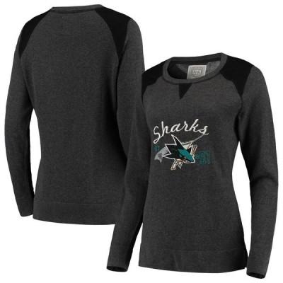 オールドタイムホッケー レディース パーカー・スウェット アウター San Jose Sharks Old Time Hockey Women's Celano Crew Neck Sweatshirt