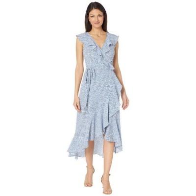 マックススタジオ レディース ワンピース トップス Printed Bubble Crepe Wrap Dress