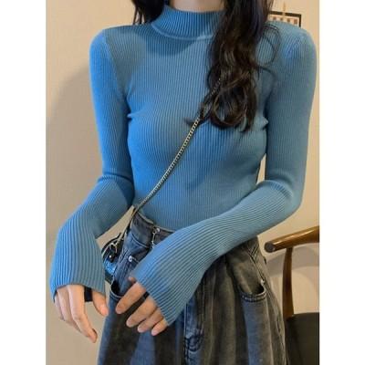 レディース ニット トップス 秋冬 ニットウェア 30代 韓国 20代 カットソー 可愛い トップス 長袖 セーター おしゃれ かわいい
