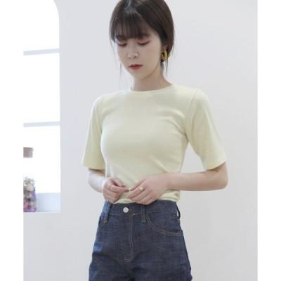 tシャツ Tシャツ 無地スリムシルエット 半袖Tシャツ