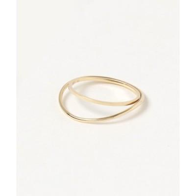 指輪 Lilas AUTHENTIC ユルカーブ2ラインリングK10