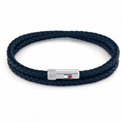 トミー ヒルフィガー Tommy Hilfiger レディース ブレスレット ジュエリー・アクセサリー Double Leather Bracelet Navy