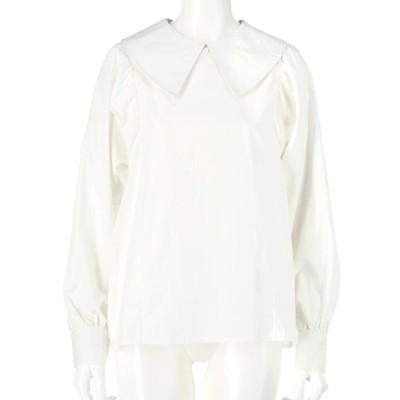 CHILLE ビッグ襟シャツ(ホワイト)