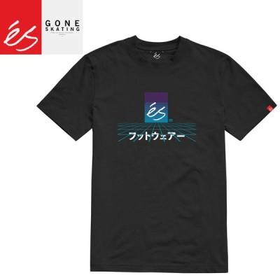 エススケートボード ES FOOTWEAR スケボー Tシャツ MECHA TEE ブラック NO36