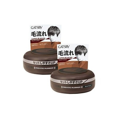 GATSBY(ギャツビー) ムービングラバーマルチフォルム メンズ スタイリング剤 ヘアワックス セット 80g×2個