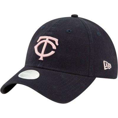 ニューエラ New Era レディース キャップ 帽子 Minnesota Twins Navy Core Classic 9Twenty Adjustable Hat