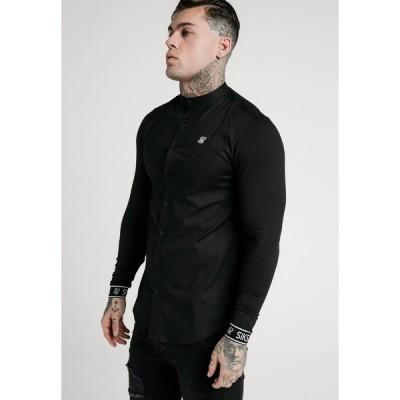 シックシルク シャツ メンズ トップス TECH CUFF - Shirt - black
