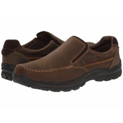 SKECHERS スケッチャーズ メンズ 男性用 シューズ 靴 ローファー Relaxed Fit Braver Rayland Dark Brown【送料無料】