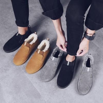 暖かい靴 ムートンメンズ  ボア靴 防寒靴 メンズ 暖かいアウトドア靴 メンズ スノーシューズ   メンズ 防寒 雪靴  短靴