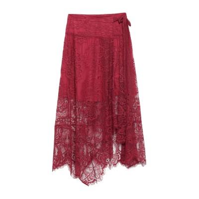 GUARDAROBA by ANIYE BY 7分丈スカート ボルドー S ナイロン 100% 7分丈スカート