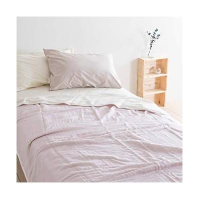 ロマンス小杉 6重 ガーゼケット シングルサイズ 三河木綿 ウォッシャブル 日本製 51007 ピンク[10] シングル