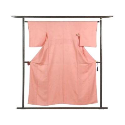 リサイクル着物 小紋 正絹ピンク地袷江戸小紋着物