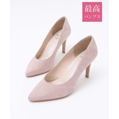 PICHE ABAHOUSE 【最高パンプス】美脚×快適 fluffy fit 8.5cmヒール ピンク 39