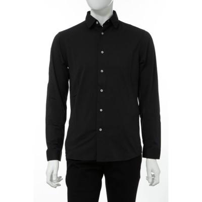 ハイドロゲン HYDROGEN シャツ カッターシャツ ワイシャツ 長袖 メンズ 260H16 ブラック 2020年春夏新作