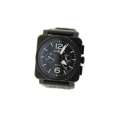 ベル & ロスBell & Ross Aviation クロノグラフ PVD ステンレス スチール 腕時計 BR0394S-BL-CA