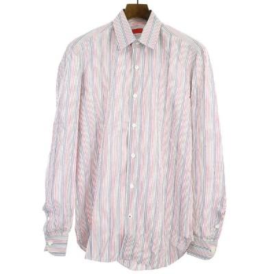 ISAIA イザイア マルチカラーストライプドレスシャツ マルチカラー 39 メンズ