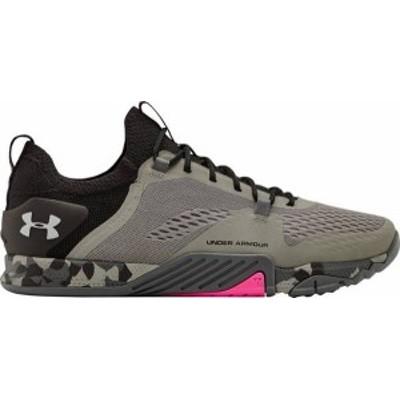 アンダーアーマー メンズ スニーカー シューズ Under Armour Men's TriBase Reign 2 Training Shoes Grey/Black/Pink