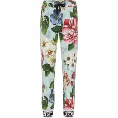 ドルチェandガッバーナ Dolce and Gabbana レディース スウェット・ジャージ ボトムス・パンツ Floral trackpants Fiori Ombre F Azzurrr