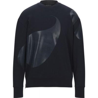 アルマーニ EMPORIO ARMANI メンズ スウェット・トレーナー トップス Sweatshirt Dark blue