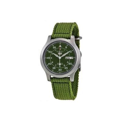 腕時計 セイコー メンズ Seiko 5 Green Dial Green Canvas Men's Watch SNK805