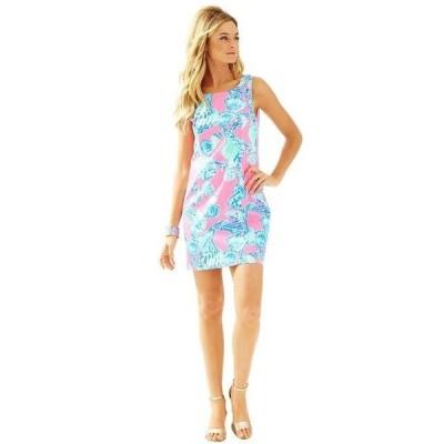 ワンピース リリーピュリッツァー Lilly Pulitzer Cathy Shift Dress Pink Pout Barefoot Princess Blue 2 4 10 12