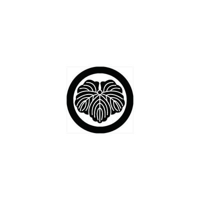 家紋シール 石持ち地抜き蔦紋 直径15cm 丸型 白紋 KS15M-2027W