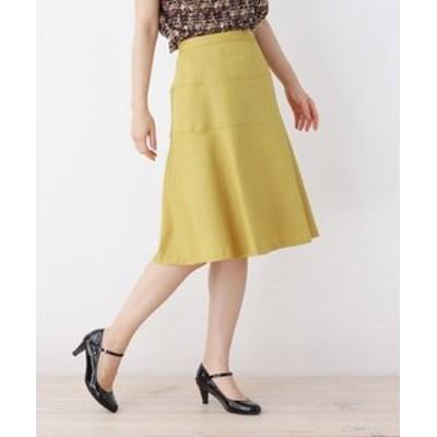 【大きいサイズあり・13号・15号】切り替えデザインスカート