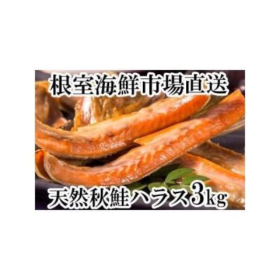 ふるさと納税 根室海鮮市場<直送>甘汐天然秋鮭ハラス3kg(500g×6P) A-28134 北海道根室市