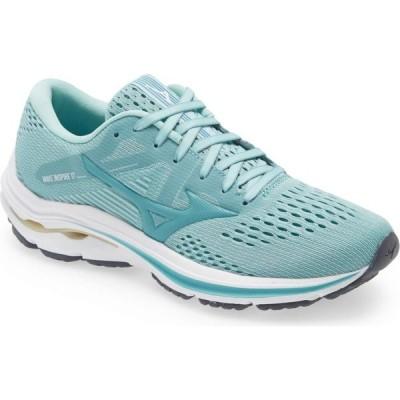 ミズノ MIZUNO レディース ランニング・ウォーキング シューズ・靴 Wave Inspire 17 Running Shoe Eggshell Blue Turquoise